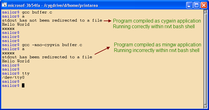 Gnu Emacs / Cygwin TTY Problem